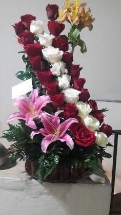 Valentine Flower Arrangements, Funeral Floral Arrangements, Tropical Flower Arrangements, Creative Flower Arrangements, Church Flower Arrangements, Rose Arrangements, Valentines Flowers, Flower Centerpieces, Flower Decorations