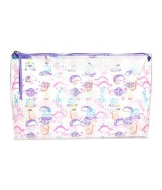 Check this out! Spacious makeup bag in transparent plastic with a printed pattern. Zip at top. Size 14 x 6 3/4 x 11 1/2 in. - Visit hm.com to see more.