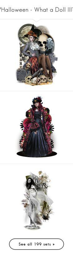 """🎃Halloween - What a Doll III👻"" by cindu12 ❤ liked on Polyvore featuring art, dollset, artdoll, artset, artexpression, chomiczynkadolls, doll, holdontothatbag, Forum Novelties and Trilogy"