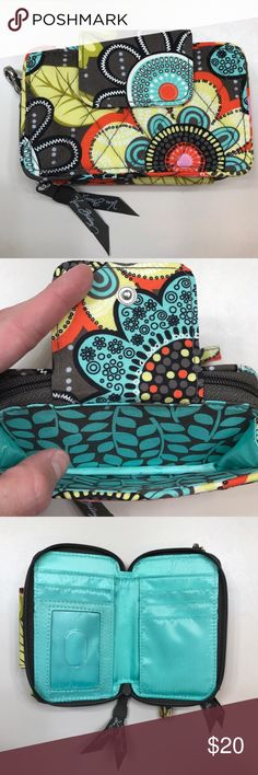 Vera Bradley Wristlet Wallet Like New! Wallet with wrist strap in excellent  condition. 541f6d331d665