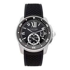 ▶ Cartier Calibre de Cartier Diver Automatic Steel Sapphire Men Watch for Sale Cartier Calibre, Cool Watches, Men's Watches, Male Watches, Cartier Watches, Affordable Watches, Pre Owned Watches, Luxury Watches For Men, Automatic Watch