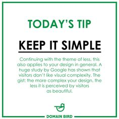 Today's Tip - Keep it Simple What does that mean for your site? Besides the point above, here are a few ideas:  Rethink the sidebar — More and more websites are ditching the sidebar in favor of single-column design (for example, the one you are on right now). It means less distractions and puts the focus clearly on the content. Online Campaign, Column Design, Today Tips, Digital Marketing Services, Keep It Simple, Your Design, Meant To Be, How To Apply, Content