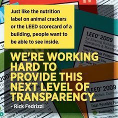 Inspirational quote from our CEO, Rick Fedrizzi.