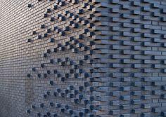 Brick texture Brick Pattern, Mark Koehler Architects Handmade tiles can be colour coordinated and customized re. shape, texture, pattern, etc. by ceramic design studios Brick Design, Facade Design, Wall Design, Design Case, Building Skin, Brick Building, House Building, Brick Architecture, Architecture Details