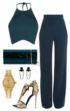 Untitled #511 by fashionkill21 on Polyvore featuring Rebson, Cushnie Et Ochs, Giuseppe Zanotti, Jimmy Choo and Rolex