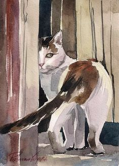 Aquarell Katze