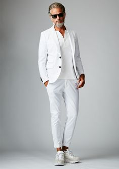 Smart Casual Menswear, Men Casual, Summer Outfits, Casual Outfits, Fashion Outfits, Blazer With Jeans Men, Mens White Suit, Bon Look, Urban Fashion Trends