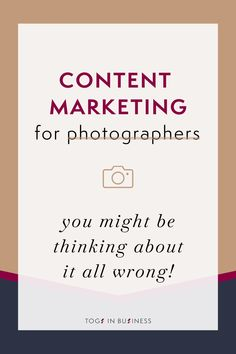 You might be thinking about content marketing all wrong! Content marketing for photographers can be very powerful in attracting photography clients if done right. Click through to learn more + sign up to my FREE 60 Minute Marketing Strategy for Photographers training!   Content marketing tips for photographers   Photography business marketing   #photographybusiness Business Facebook Page, Facebook Marketing, Business Marketing, Content Marketing, Photography Marketing, Photography Branding, Photography Business, Read My Email, Photography Website