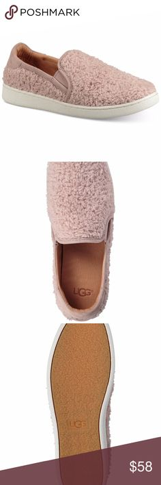 Ugg Australia Ricci 7 Dusk Brand New Ugg Australia Ricci 7 Dusk Brand New The fun Ricci slip-on sets you apart from the rest! Faux-sheepskin uppers with a round toe. Soft suede bindings. Easy slip-on style with dual side goring. Lightly cushioned collar. Smooth and breathable leather linings. A PORON® and EVA cushioned insole offers maximum shock absorption for all-day comfort. Durable rubber outsole. UGG Shoes Sneakers
