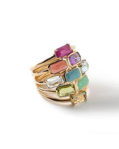 18k Rock Candy Mosaic Cascade Ring by Ippolita at Bergdorf Goodman.