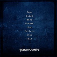 """Don't let fear destroy your dreams! #tobymac #speaklife #bestrong #bebold #strugglesmakeyoustronger"""