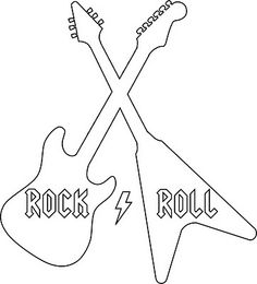 Dibujos varios on pinterest 3d drawings clip art and for Guitar cut out template