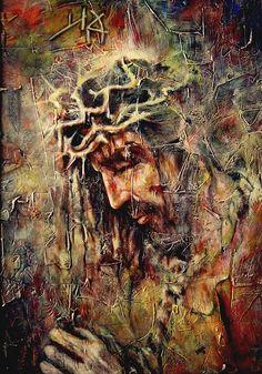Yeshua Painting by Jesus Alberto Arbelaez Arce