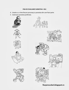 Evaluare sumativa 1 DLC, DS, DOS, DEC Nivel I si II | Fise de lucru - gradinita Puzzles For Kids, Worksheets For Kids, Kindergarten Worksheets, Activities For Kids, Crafts For Kids, Poli, School, Character, Brain Teasers For Kids