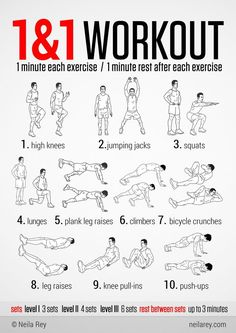 1&1 no-equipment workout