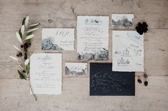 Dark Marbled Wedding Stationery Suite - Alexandra Grecco Bridal For A Minimalist Wedding Inspiration Shoot at Masseria Moroseta Puglia With Plum Colour Accents Styling by In The Mood For Love Weddings And Images by Melissa Gidney Photography