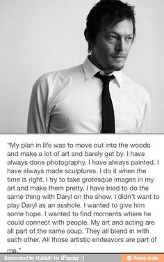 Norman Reedus-Good God man, could you please stop being so fucking perfect! Argh!!! You're killing me here!
