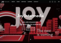 Joy Intermedia #webdesign #inspiration #UI