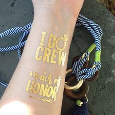 New tat in the shop. I DO CREW with an adorable bling ring.   Will be available this week!!!!   #tattoo #Bach #bachparty #bacheloretteparty #bachelorette #idocrew #hendo #jackandjill #hennight #bridalshower