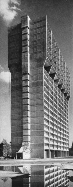 John J. Barton Apartments, Indianapolis, Indiana, 1968 (Evans Woollen)