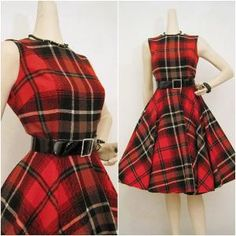 Perfect vintage tartan dress! - Oh, Lauren, your style board is soooo awesome! I want one of everything!