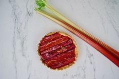 Tarte à la rhubarbe et à la crème d'amandes Grill Pan, Grilling, Almonds, Griddle Pan, Crickets
