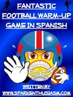 This 20 page Spanish NFL Professional Football Warm-Up Game will motivate your students to use Spanish while trying to guess answers about their favorite football teams.