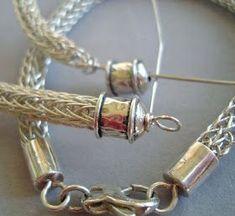 Right Turn Art Werks: Viking Knit Endings - Sharon Driscoll Viking Knit Jewelry, Viking Bracelet, Wire Wrapped Jewelry, Metal Jewelry, Beaded Jewelry, Jewlery, Jewelry Bracelets, Brooches Handmade, Handmade Jewelry