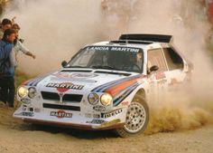 Lancia Delta rally car - Group B Lancia Delta, Sport Cars, Race Cars, Nascar, Martini Racing, Off Road Racing, Rally Car, Car And Driver, Cool Cars