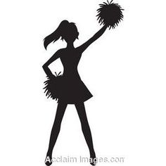 free cheer sillohette clip art black and white cheerleader clip rh pinterest com free cheerleader clipart black and white free cheer clipart megaphone