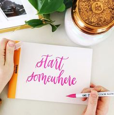 Start somewhere. Let's get down to the most basic of basics - better pens won't make you an overnight calligrapher. 🤷🏼‍♀️ I think we all wish that was true because starting a new hobby/routine/job is always more difficult th Best Pens, New Hobbies, Brush Pen, Routine, Card Making, Letters, Let It Be, Make It Yourself, My Favorite Things