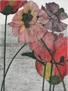 Art Hansen : Six Poppies at Davidson Galleries