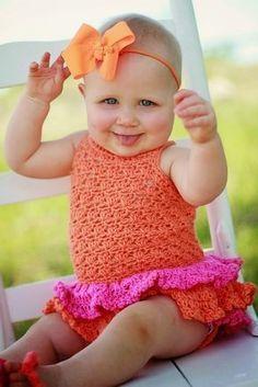 Crochet Dreamz: Baby Sun Suit Romper Crochet Pattern, Pdf Crochet Pattern, Newborn to 2 Years #babysunsuit