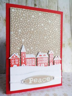 Snowy Village by Heather Maria D, via Flickr