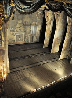vivelareine: The stage of Marie Antoinette's. - marieantoinettesplayhouse - Anarchy in Versailles - Theater Chateau Versailles, Palace Of Versailles, Toy Theatre, Theatre Stage, Set Design Theatre, Stage Design, Marie Antoinette, Theatrical Scenery, Luis Xiv