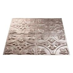Lay In Ceiling Tile Crosshatch Silver