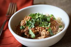 Crockpot Chicken Mole with Rice Pilaf! Easy and delicious!