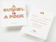 Lisa + Brian's Modern Foodie Wedding Invitations | Enormous Champion