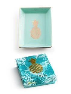 """Patio Party"" Decorative Tray - Pineapple"