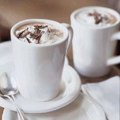 Mint Hot Chocolate #hotcocoa #sweets #recipe
