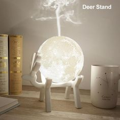 Drop Ship Ultrasonic Moon Air Humidifier Aroma Essential Oil Diffuser USB Mist Maker Humidificador with LED Night Lamp Aromatherapy Humidifier, Humidifier Essential Oils, Air Humidifier, Aromatherapy Diffuser, Aroma Essential Oil, Essential Oil Diffuser, Plywood Furniture, Aroma Diffuser, Night Lamps