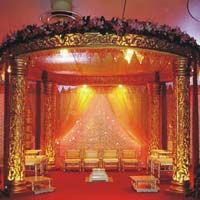 Golden Raj Wedding Fiber  Mandaps