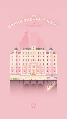 ↑↑TAP AND GET THE FREE APP! Art Movies & Music Theme Cinema Wes Anderson Hotel Budapest Pink Design HD iPhone 6 plus Wallpaper