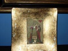 posacenere in vetro con stampa e foglia oro