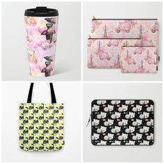 Newest designs at my #homedecor store #fashion #paris #cat - #travelmetalmugs #mugs #carryallpouch #totebag #laptopsleeve etc.  Check more products at society6.com/julianarw
