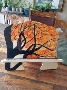 """""""Tien livre"""" encre et peinture avec epoxy clair"""