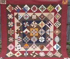 COUNTRY LOG CABIN: CIVIL WAR QUILT FINISHED
