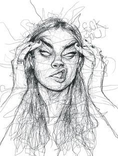 Oeuvre by Vince Low - Une femme énervé