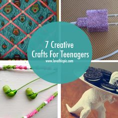 Creative crafts and ideas for teenagers. diy crafts teens teen craft ideas crafty ideas