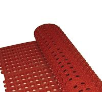 Winco Interlocking Floor Mat, by by ½-Inch, Grease-Resistant Red Janitorial Supplies, Kitchen Rug, Grease, Floor Mats, Cool Kitchens, Pallet, Flooring, Rugs, Note